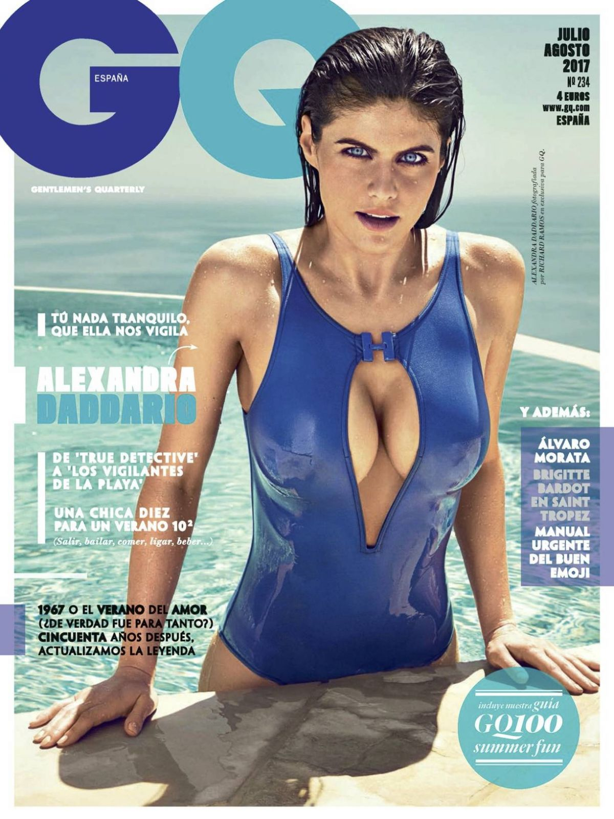 Alexandra Daddario For GQ Spain July/August 2017