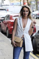 Amber Dowding Seen filming towie at a restaurant in Essex
