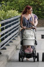 Amy Childs Is seen meeting up with a friend for lunch in Essex