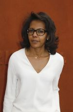 Audrey Pulvar At the French Tennis Open at Roland-Garros in Paris