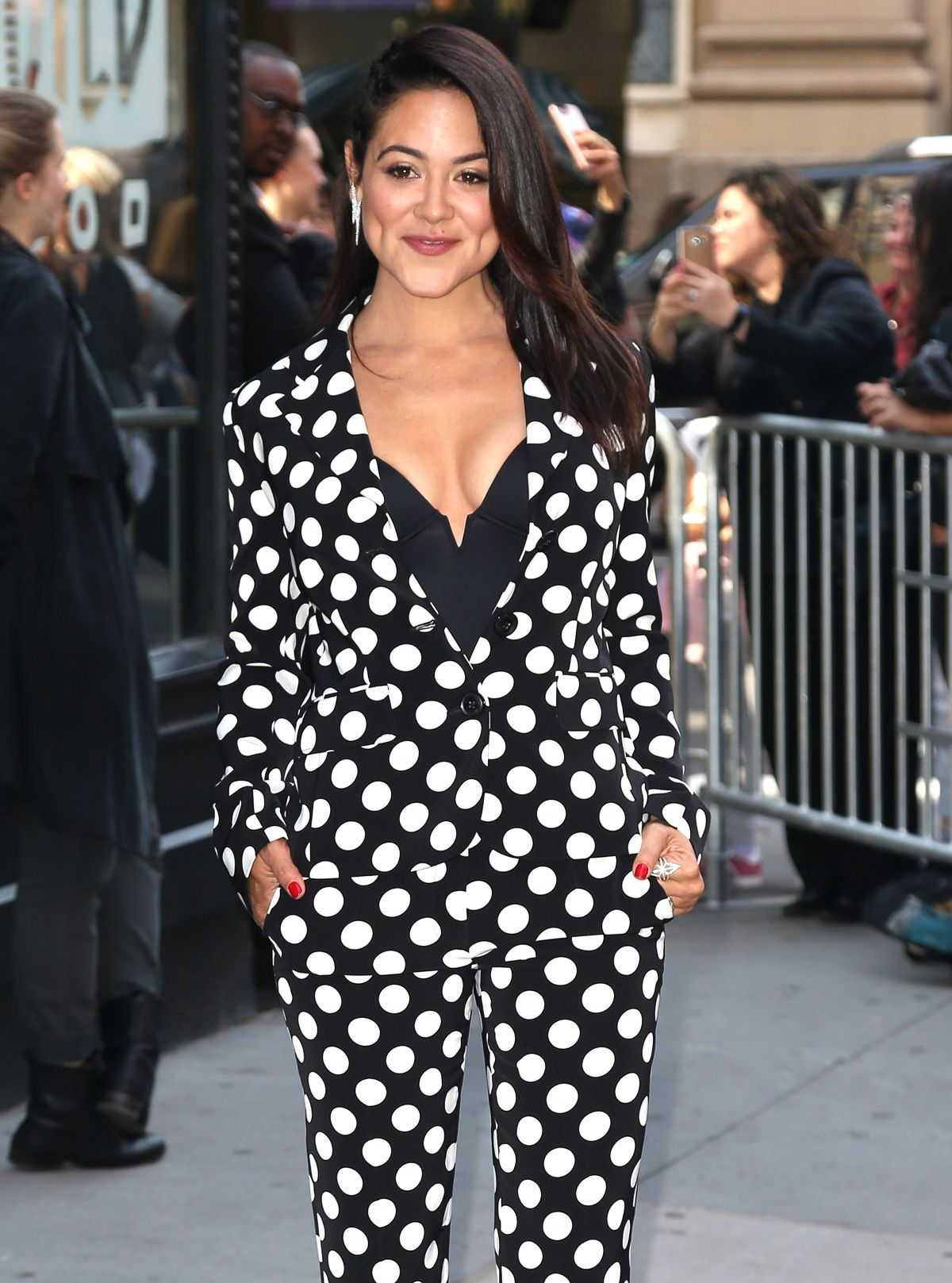 Camille Guaty Arrives at AOL Studios in New York