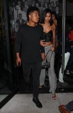 Chanel Iman Seen at catch la in West Hollywood