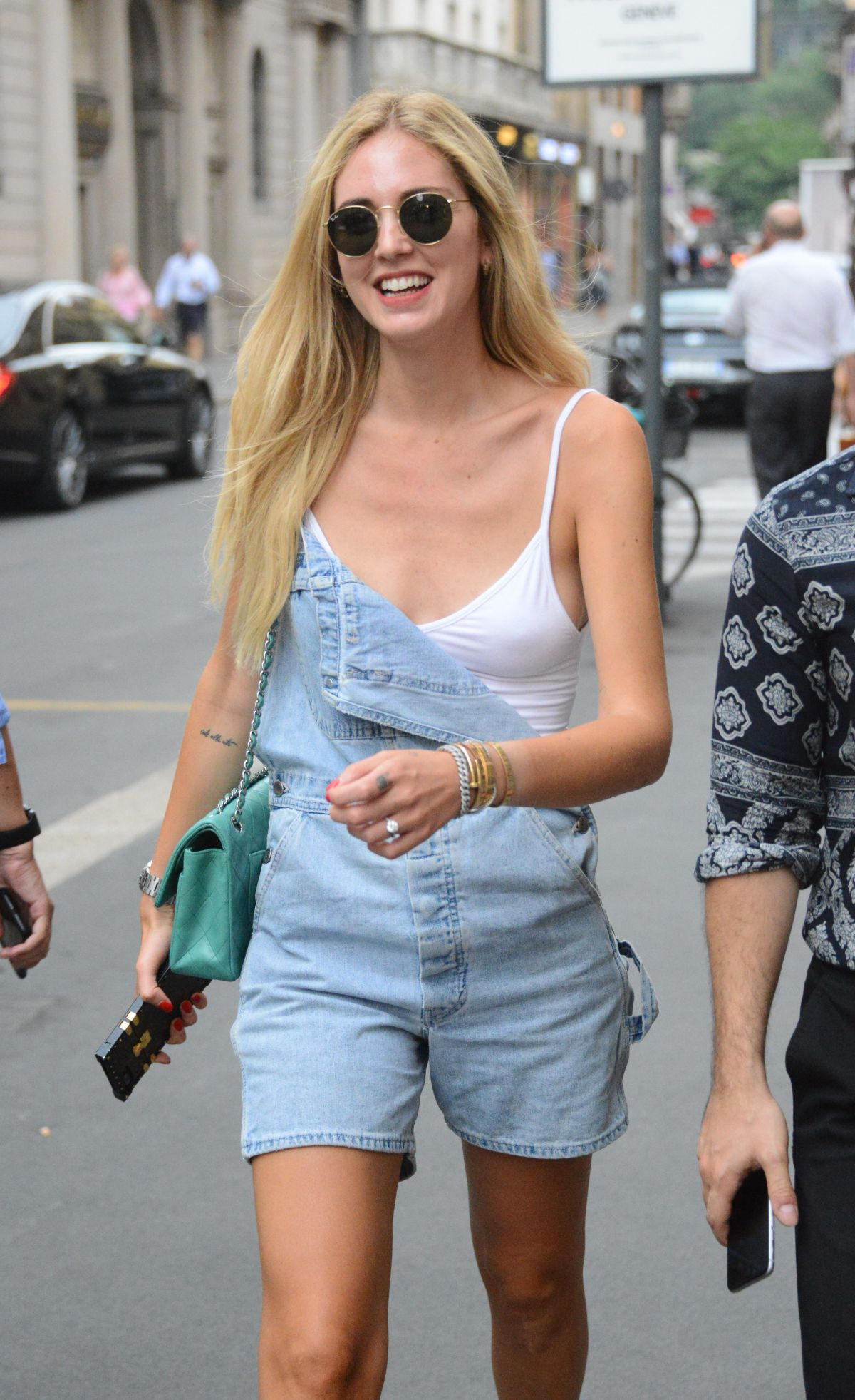 Chiara Ferragni Out in Milan