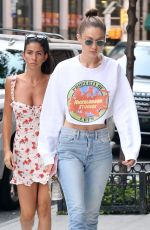Gigi Hadid Rocks a Nickelodeon sweatshirt in NYC