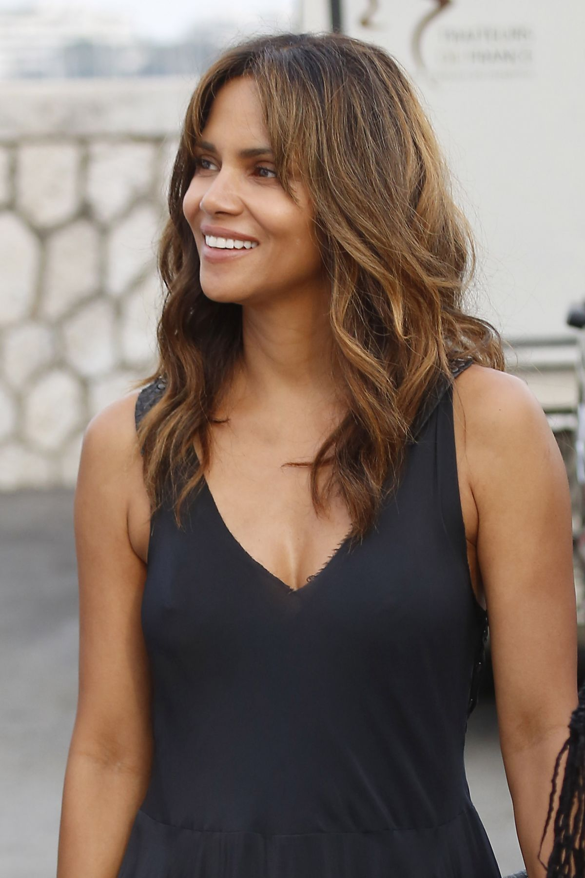 Halle Berry At Party on a Yacht at Cannes Lions Festival ... Halle Berry