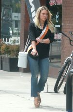 Hilary Duff Out doing some weekend shopping in Studio City