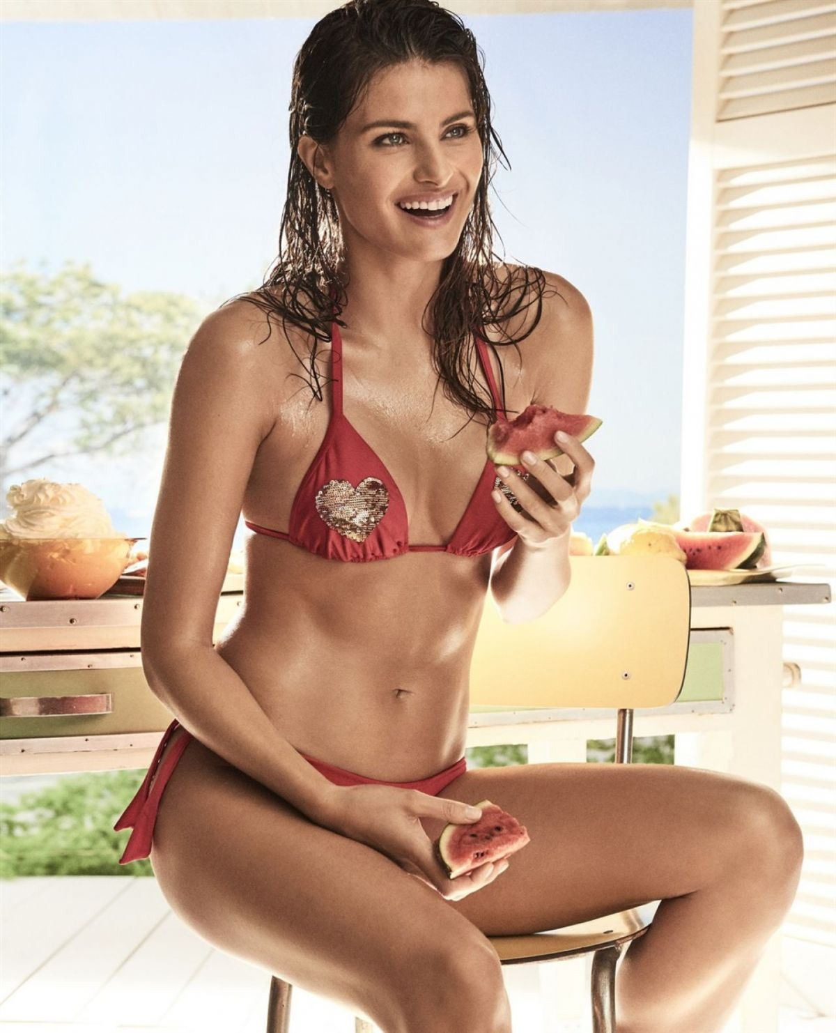 "Isabeli Fontana In Bikini Photoshoot for Twinset ""Coup de Coeur"" Collection 2017"