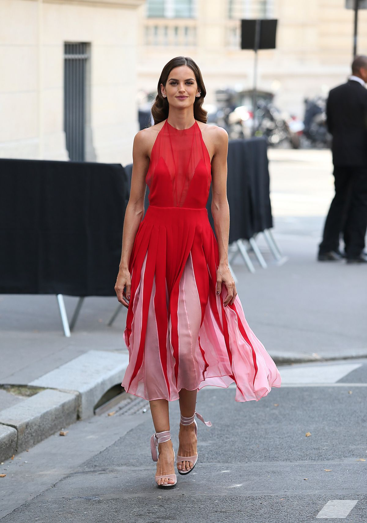 Izabel Goulart At Valentino Fashion Show in Paris