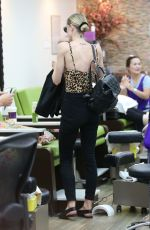 Jaime King Seen at a nail salon in Beverly Hills