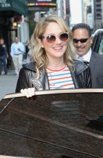 Judy Greer Stops by The Late Show with Stephen Colbert in NY