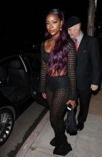 Justine Skye Arrives at Moschino Spring Summer Party