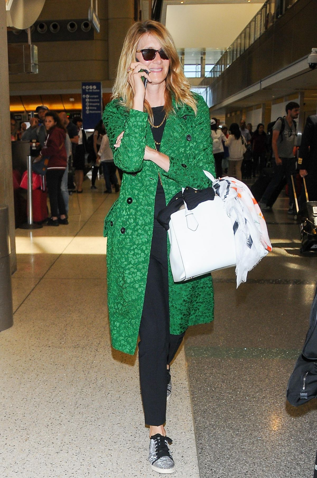 Laura Dern Is seen at LAX Airport in Los Angeles
