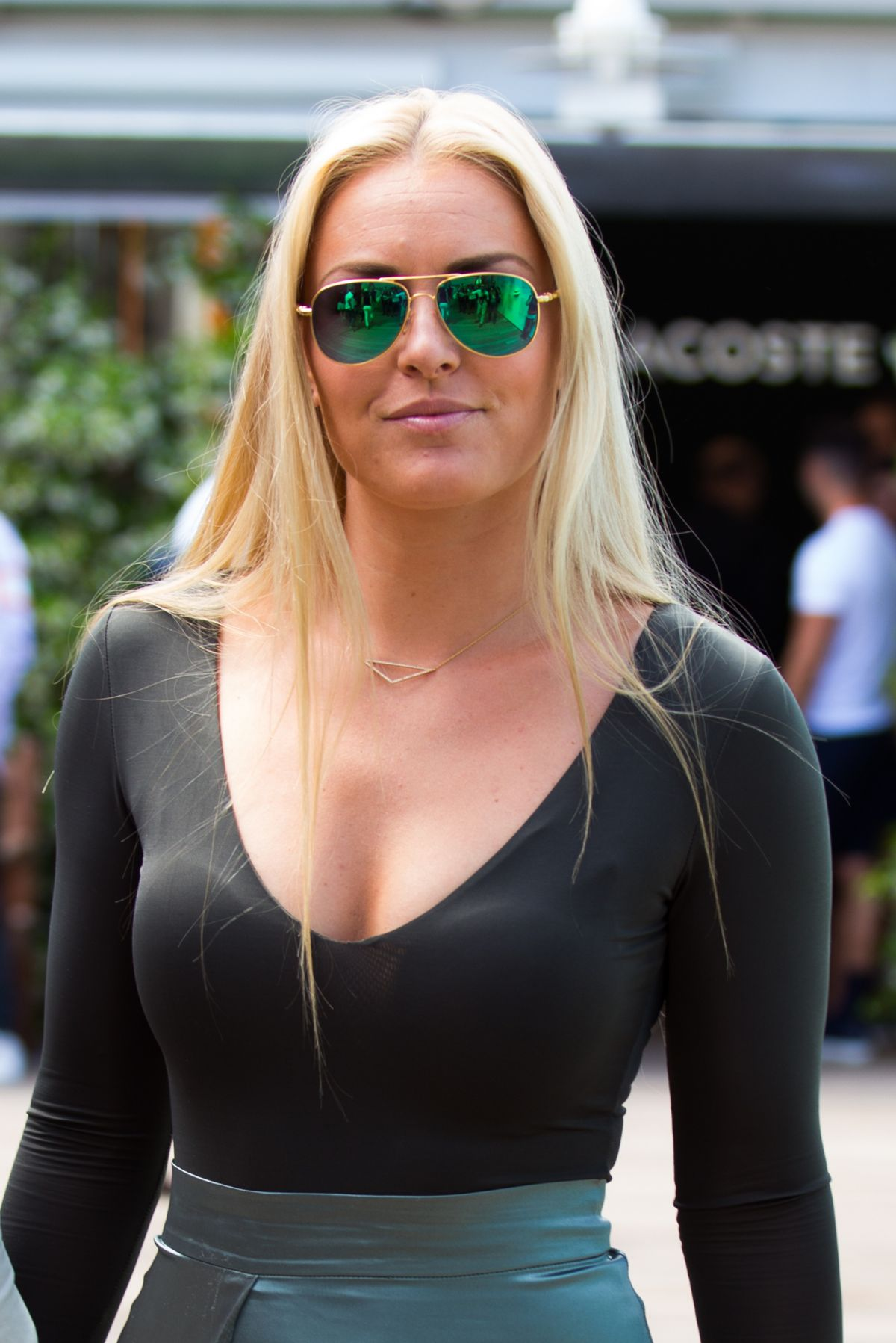 lindsey vonn at the french tennis open at rolandgarros in