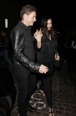 Liv Tyler and Dave Gardner leave The Chiltern Firehouse, London