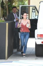 Lucy Hale Arriving at The Roosevelt Hotel - Hollywood