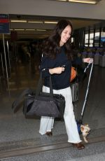 Madeleine Stowe With her dog at LAX Airport in Los Angeles