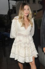 Margot Robbie Arrives at Lou Lou's Nightclub in London