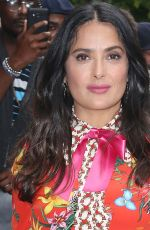 Salma Hayek Arrives at The Daily Show with Trevor Noah in New York