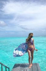 Tara Lipinski In bikini at one & only Reethi Rah