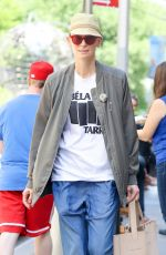 Tilda Swinton Seen outside her hotel in Tribeca