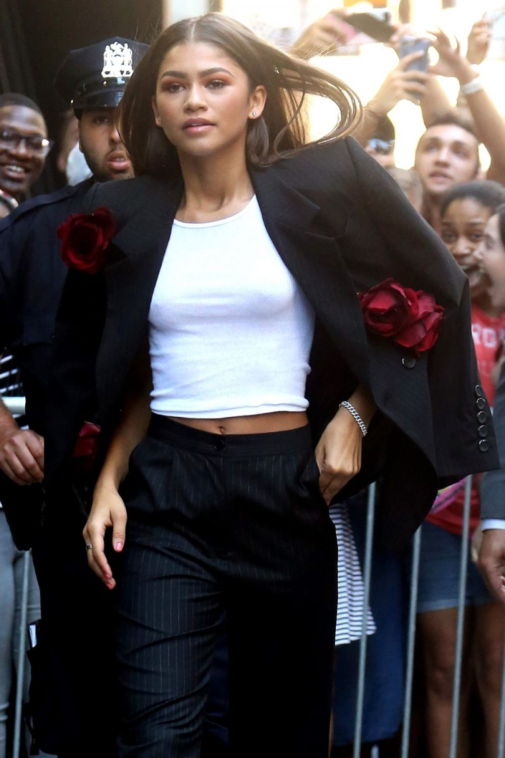 Good Morning America Nyc : Zendaya coleman leaves good morning america in new york