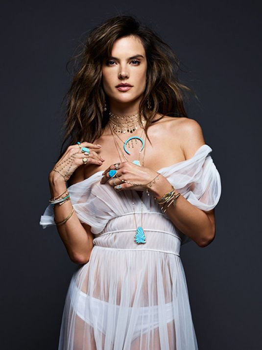 Alessandra Ambrosio For Jacquie Aiche Jewelry - Summer 17 ... Alessandra Ambrosio Necklace