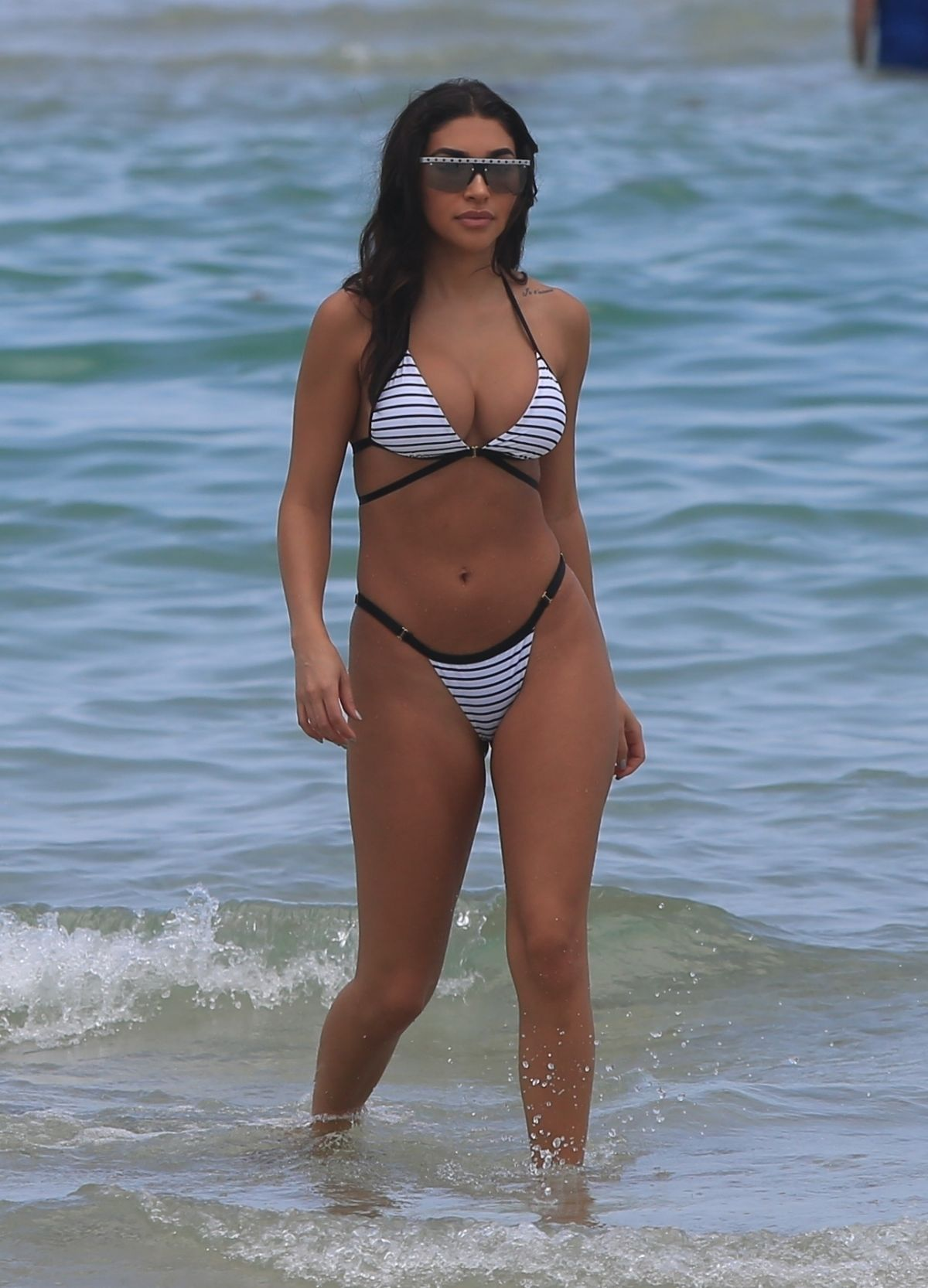 Chantel Jeffries On the beach in Miami