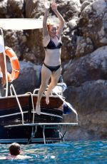 Ellie Goulding Enjoying a boat trip while on Holiday in Capri