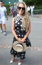Georgie Thompson Seen at the wimbledon championships in wimbledon, London
