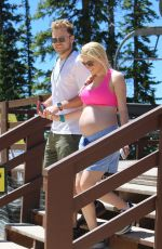 Heidi Montag Seen with her husband in the mountains of crested butte, Colorado