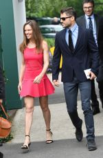 Hilary Swank Leaving the Wimbledon Tennis Championships in London