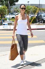 Jordana Brewster Out in Workout Tights - LA