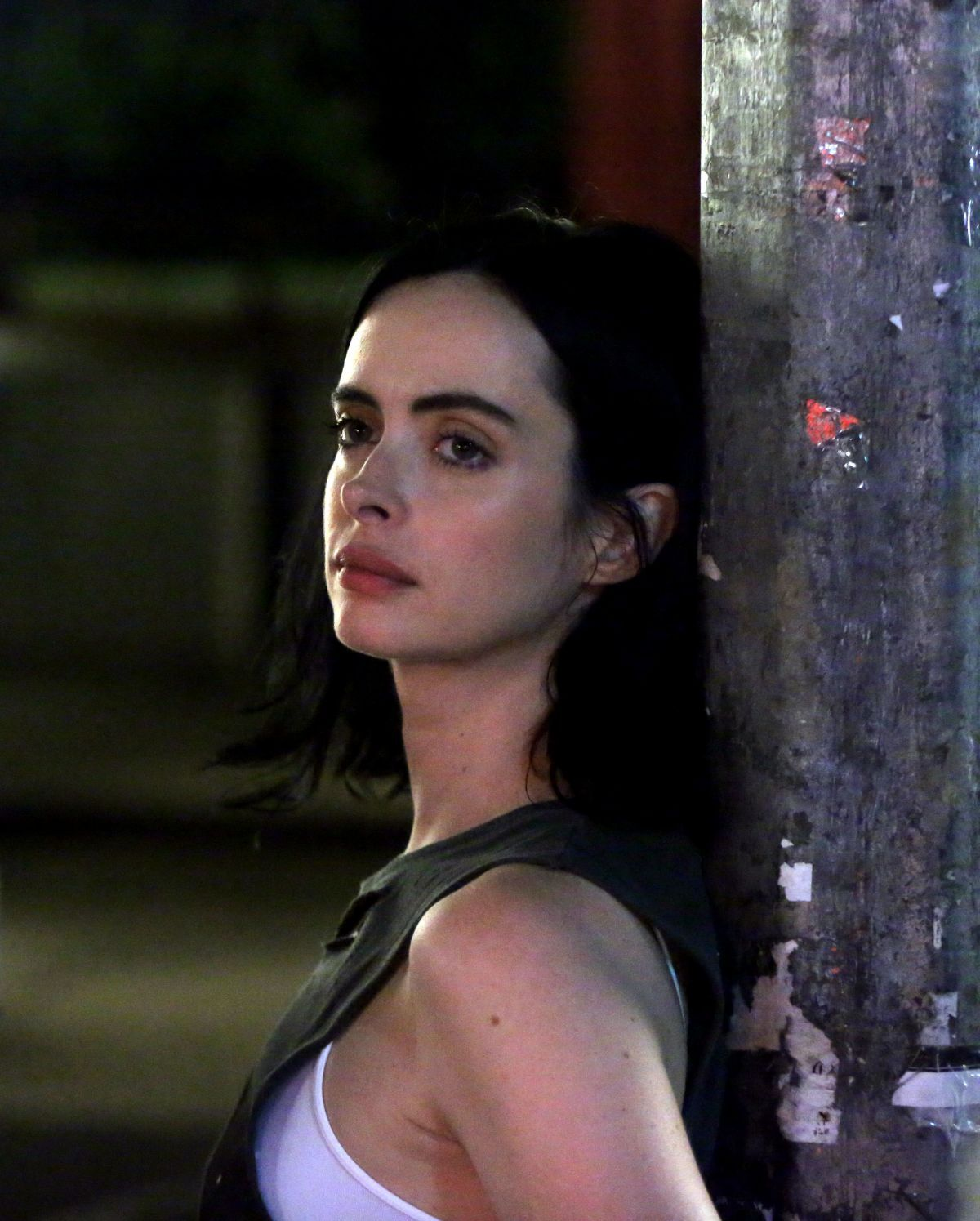 jessica brianna set Krysten Ritter On the set of Jessica Jones Season 2 in New York  krysten-ritter