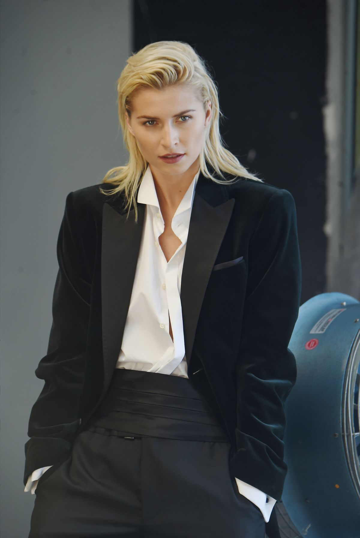 Lena Gercke On The Set Of A Photoshoot For Joop In Munich
