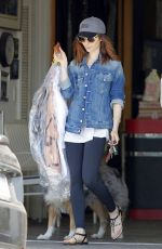 Lily Collins Picking up her dry cleaning in Beverly Hills