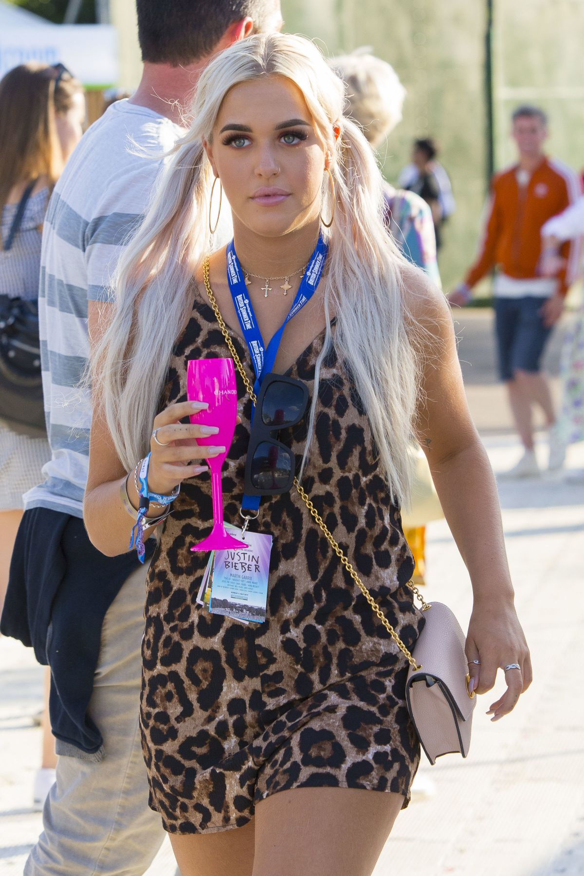 Lottie Tomlinson Seen At British Summer Time Festival In