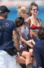Taylor Hill, Daphne Groeneveld & Georgia Fowler On a Yacht in St. Tropez