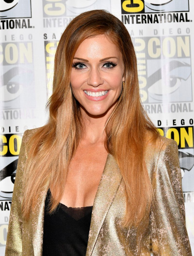 Tricia Helfer At Battlestar Galactica Reunion Panel At Comic Con In San Diego