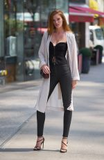 Alexina Graham On her way to the fittings for the Victoria Secret Fashion Show in NYC