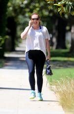 Alyson Hannigan Got her nails done after coming back from London trip with her family in Los Angeles