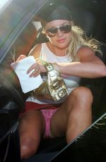 Britney Spears Upskirted Getting Out Of Her Car
