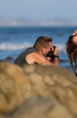 Brittney Palmer Seen on a Fitness Gurls magazine photo shoot in Malibu