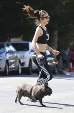 Cher Lloyd Out with her dog in LA