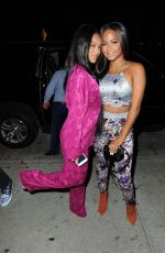 Christina Milian and Karrueche Tran Having dinner at Catch LA in West Hollywood