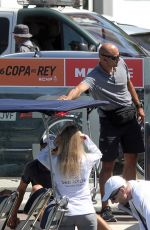Daria Strokous Is seen at Palma de Mallorca Royal Nautic Club during kings Cup Sailing Cup