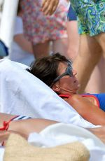 Davina McCall In Blue Bikini On Holiday in St Tropez