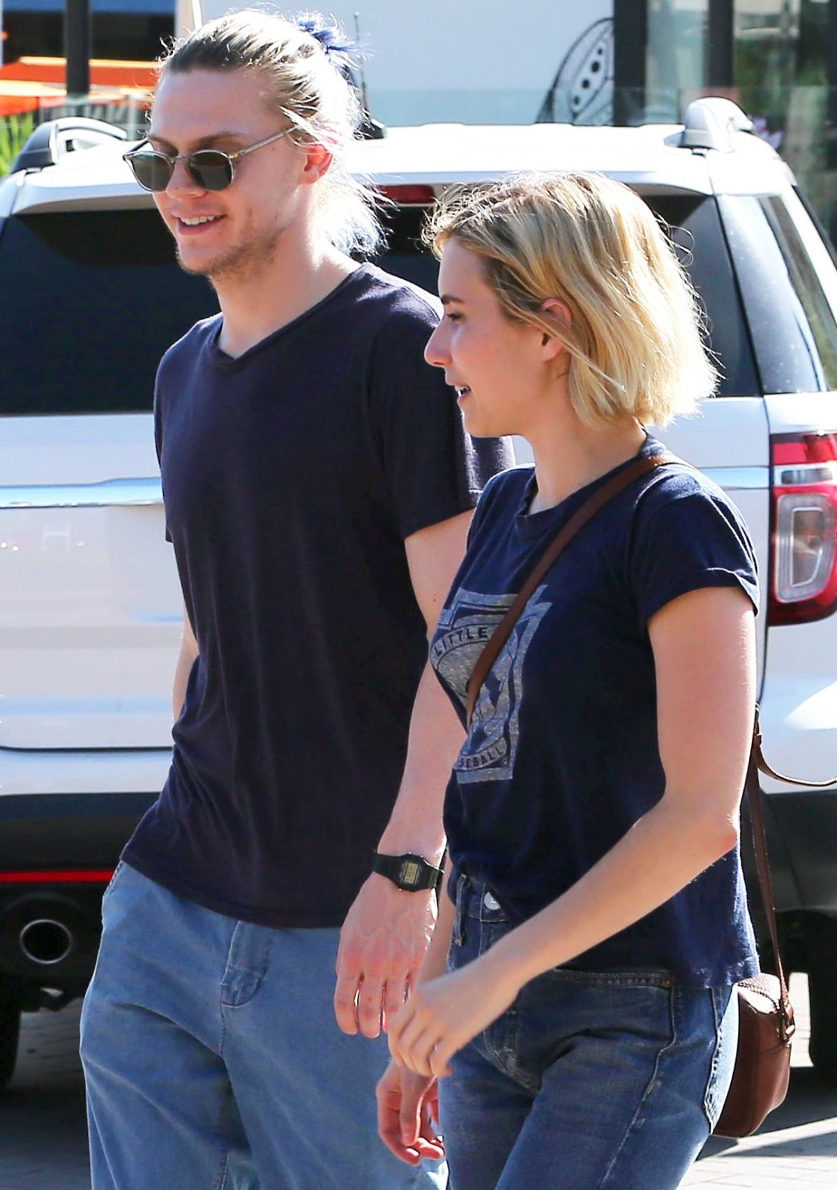 Emma roberts enjoying a romantic afternoon with evan peters in malibu