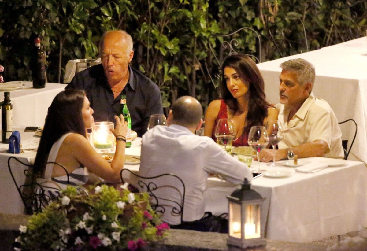 Amal clooney and george clooney candlelight dinner at le darsene in bellagio italy new foto