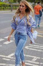 Georgia Harrison Is all smiles as she leaves photoshoot with the online boutique store in Sistaglam in Hoxton