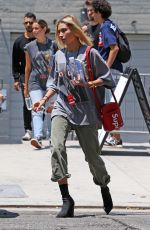 Hailey Baldwin Attending the Zoe Church Conference at the Wiltern in Los Angeles California